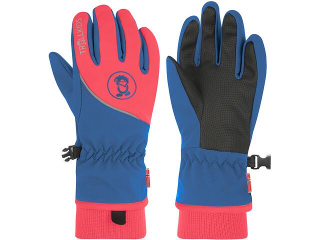 TROLLKIDS Trolltunga Handschuhe Kinder midnight blue/coral